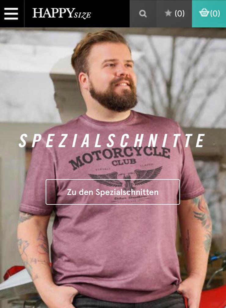 Male Plus Size Model Claus Fleissner für Happy Size
