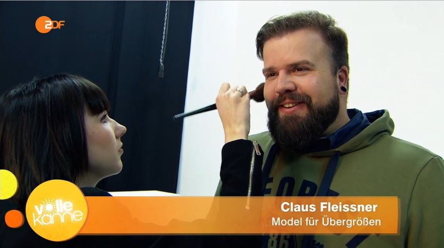 ZDF Volle Kanne Plus Size Männer Model Claus Fleissner