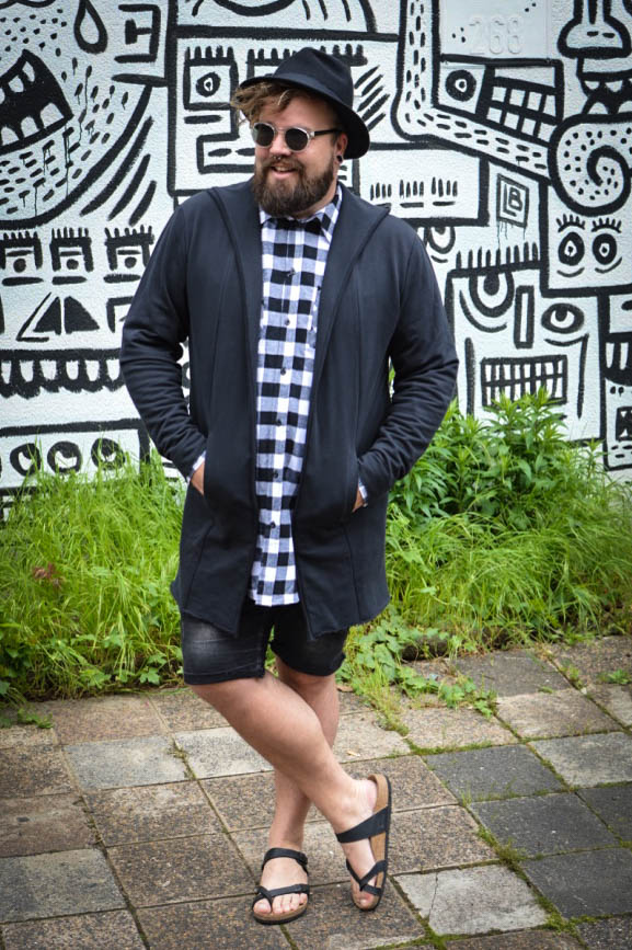 Plus Size Long Fit Outfit Plus Size Male Model Claus Fleissner