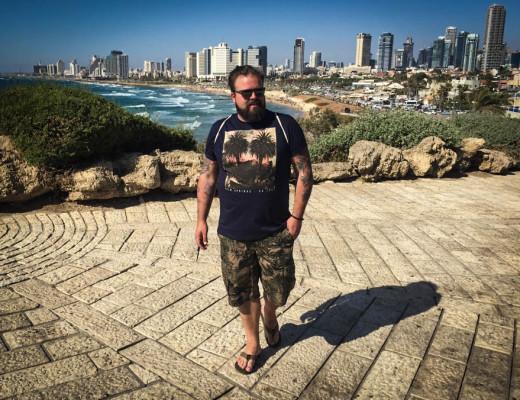 Palmen Print Shirt und Shorts Tel Aviv Plus Size Model Blogger Claus Fleissner