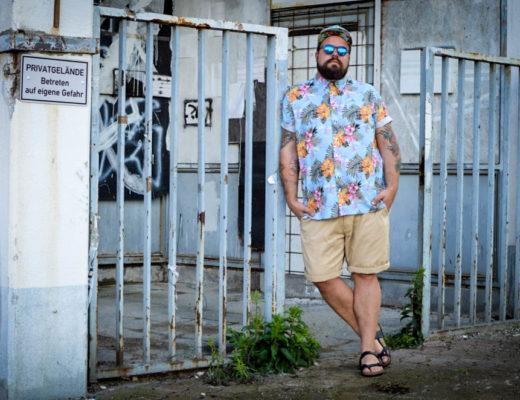 BadRhino Summer Style Male Plus Size Fashion Blog Blogger Model Claus Fleissner