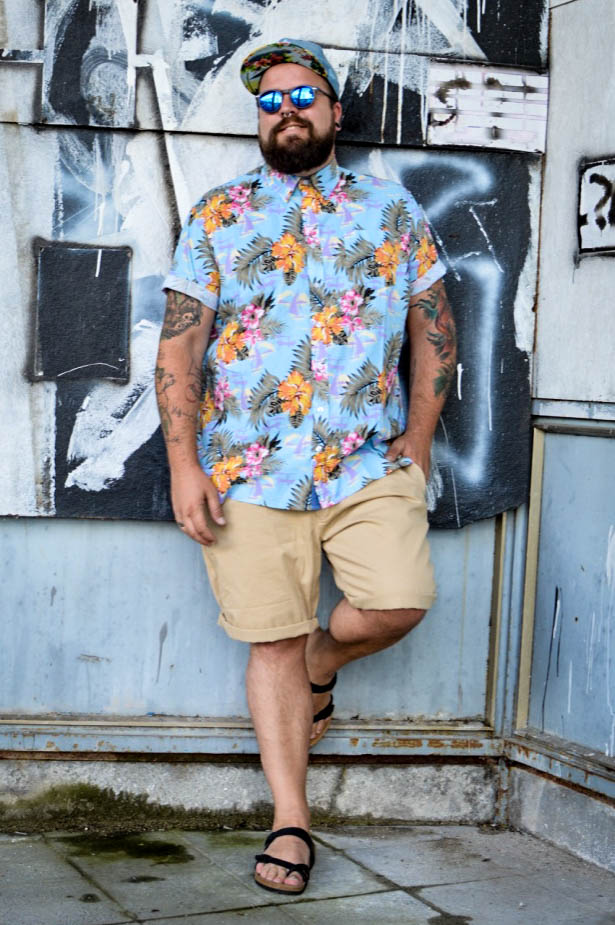 Trend 2016 Hawaii Hemd Tropical Shirt Male Plus Size Fashion Model Blog Blogger Claus Fleissner
