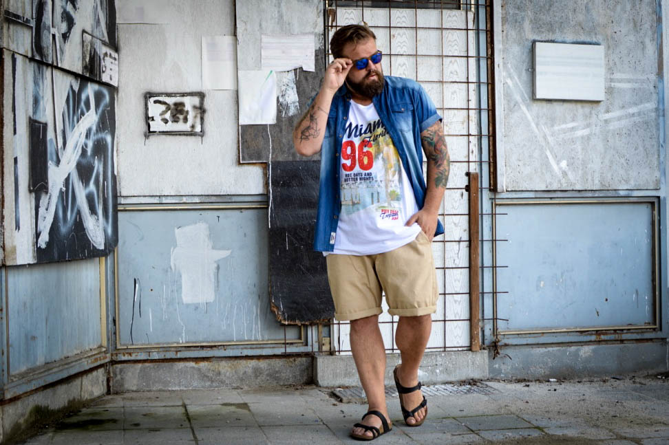 BadRhino Summer Style Male Plus Size Fashion Blog Blogger Model Claus Fleissner
