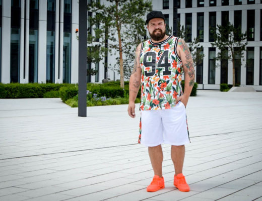 H&M Men Flower Palm Print Male Plus Size Fashion Blog Blogger Model Claus Fleissner