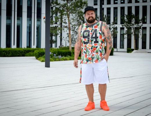 H&M Men Flower Palm Print Male Plus Size Fashion Blog Blogger Model Claus Fleissner