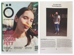 Ö - wir mögen´s öko Magazin Plus Size Model Blogger Claus Fleissner