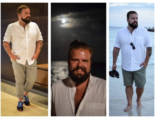Urlaub-Outfits Vacation Holidays Mallorca Beach Sun Fun Male Plus size Blog Blogger Model Claus Fleissner