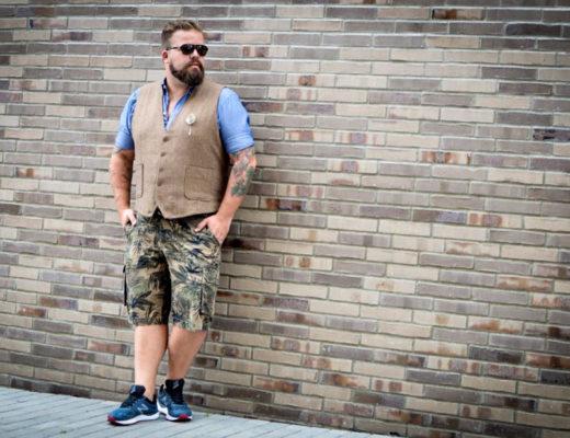 Weste in drei Looks, one vest three looks, plus size male model blog blogger claus fleissner
