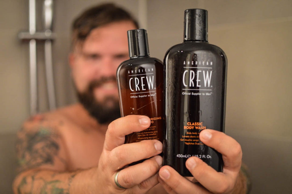 American Crew Pflegeserie Plus Size Mann Shampoo Duschgel Styling Testbericht