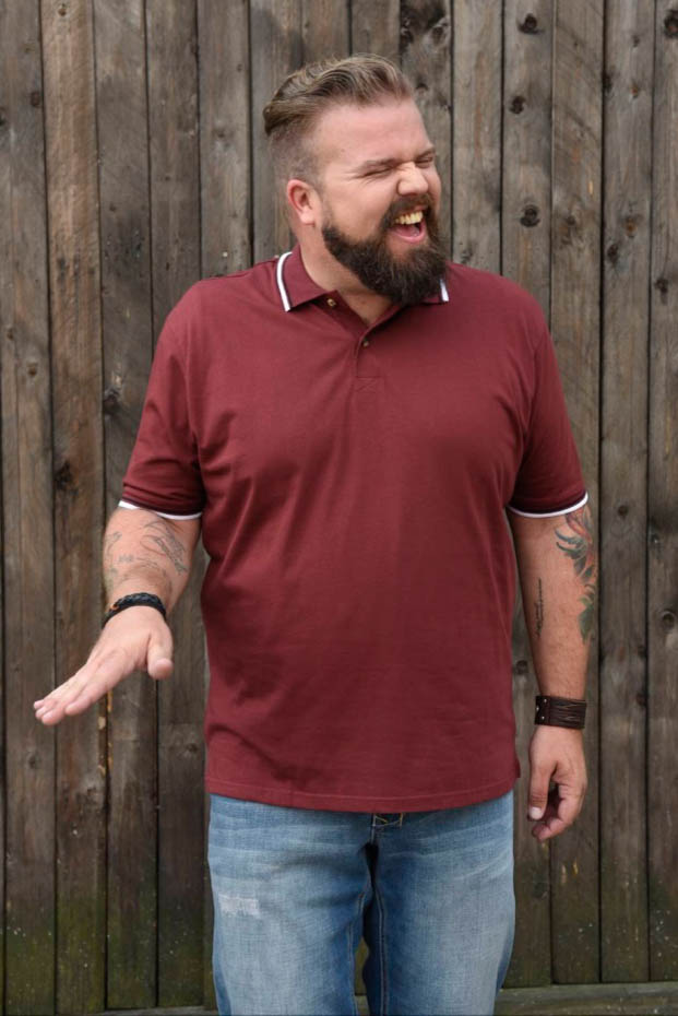 Plus Size Male Blog Blogger Model Männermode XXL Große Größen Plus Size Fashion Happy Size Poloshirt