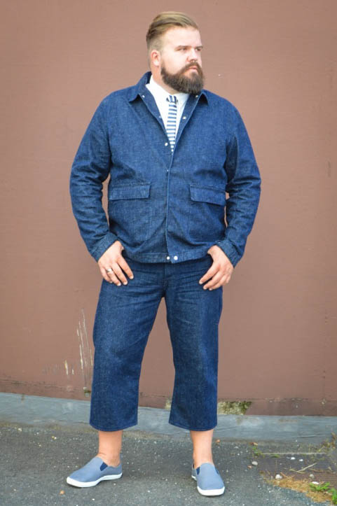 Plus size Male Model Blog Blogger Große Größen Männer XXL Dein Jeans 7/8 Hose