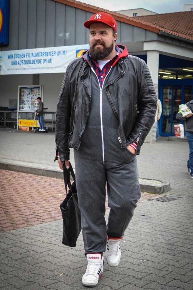 male plus size blog blogger model manner xxl Übergröße Herren Jumpsuit Onesie Onepiece bonprix lounge wear