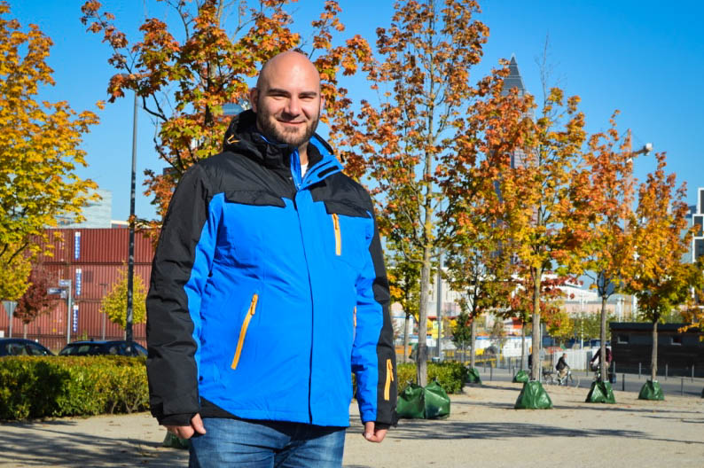 Male Plus Size Model Blog Blogger Männer XXL große Größen Claus Fleissner Softshelljacke Winterjacke Skijacke Herrenmode XXL Outdoorjacke Outdoor