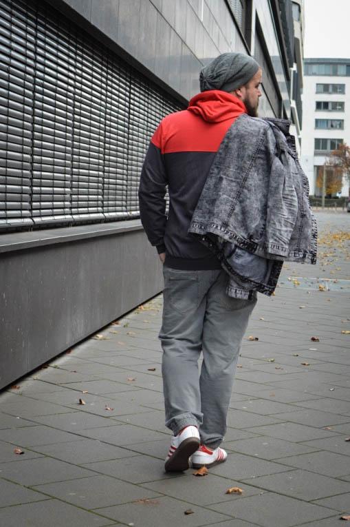 Male Plus size Blog Blogger Model Longfit streetwear Männermode XXL große Größen Herren Happy Size sportmode Kapuzen Sweatshirt
