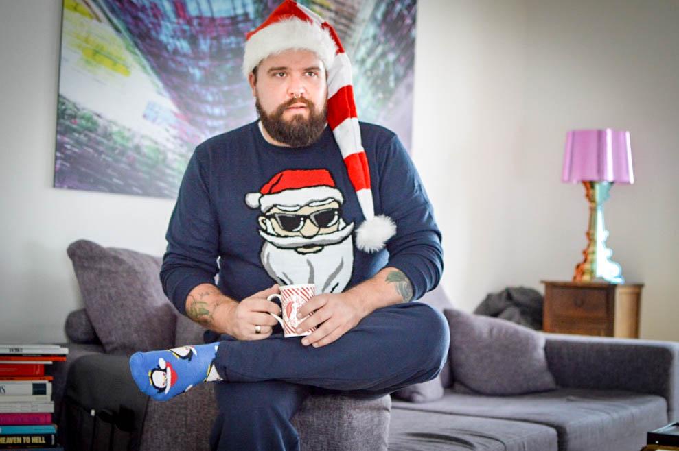 Male Plus Size Model Blog Blogger Malemodel Plus Size Model Männer XXL Herrenmode XXL Übergröße große Größen Claus Fleissner Weihnachtspullover Ugly Sweater Weihnachten Weihnachtssocken bonprix