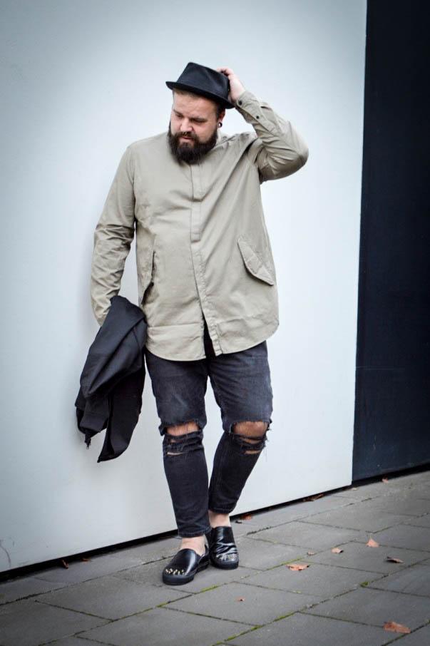 Male Plus size Blog Blogger Model Longfit streetwear Männermode XXL große Größen Herren asos stetson
