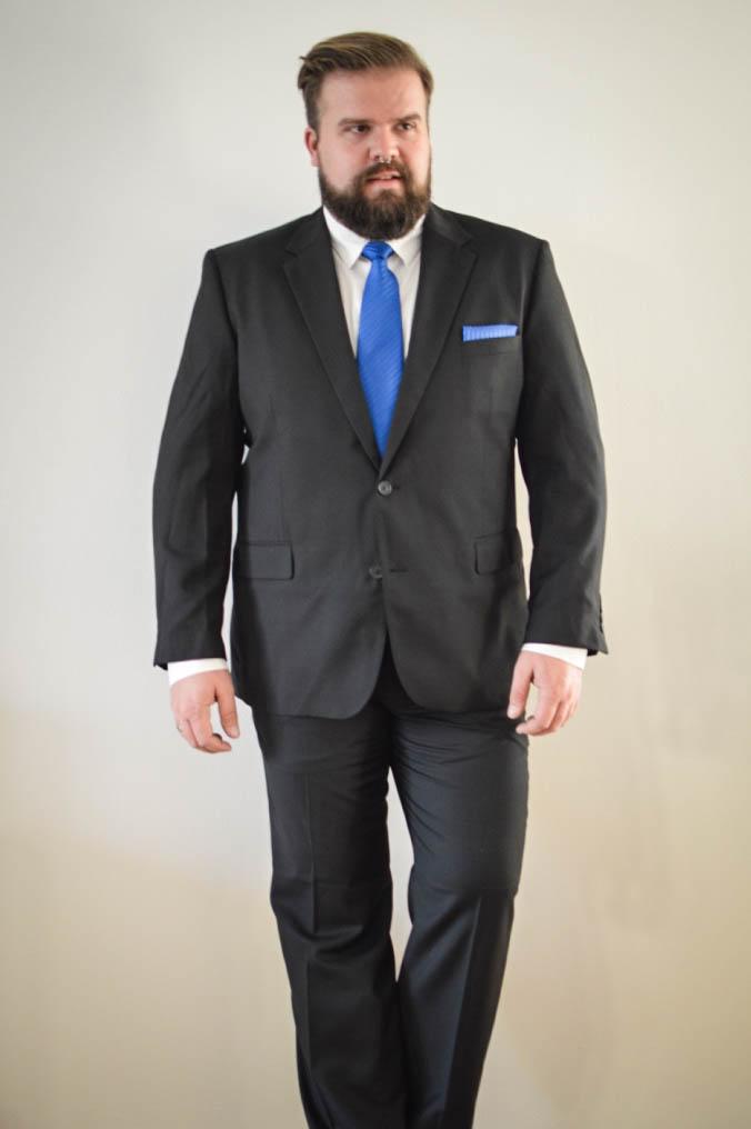 Male Plus Size Model Blog Blogger bonprix it´s me bonprix Herrenmode große Größen Männer XXL Mode Fashion Übergröße schwarzer Anzug Weste Sakko Hose