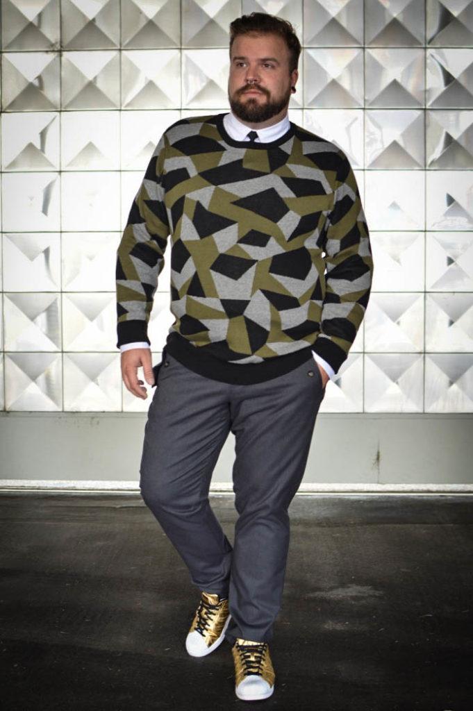 Male Plus Size Blog Blogger Model Herrenmode XXL Große Größen Männer XXL Übergröße bonprix Silversteroutfit