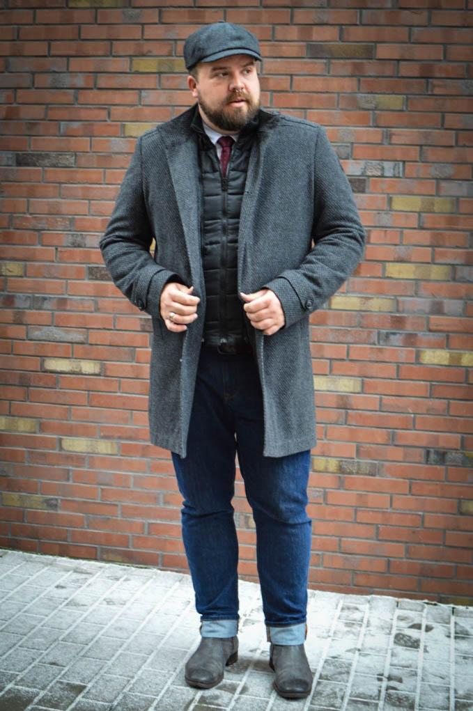 Male Plus Size Model Blog Blogger engbers XXL Männermode große Größen Herrenmode XXL Übergröße Wintermantel