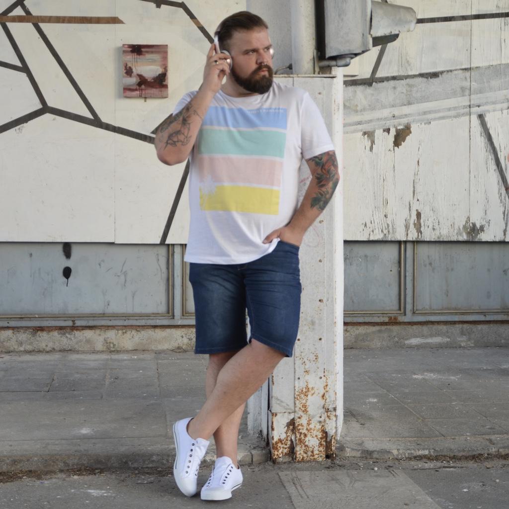 Pastell für den Frühling Männermode Plus Size Fashion Blog