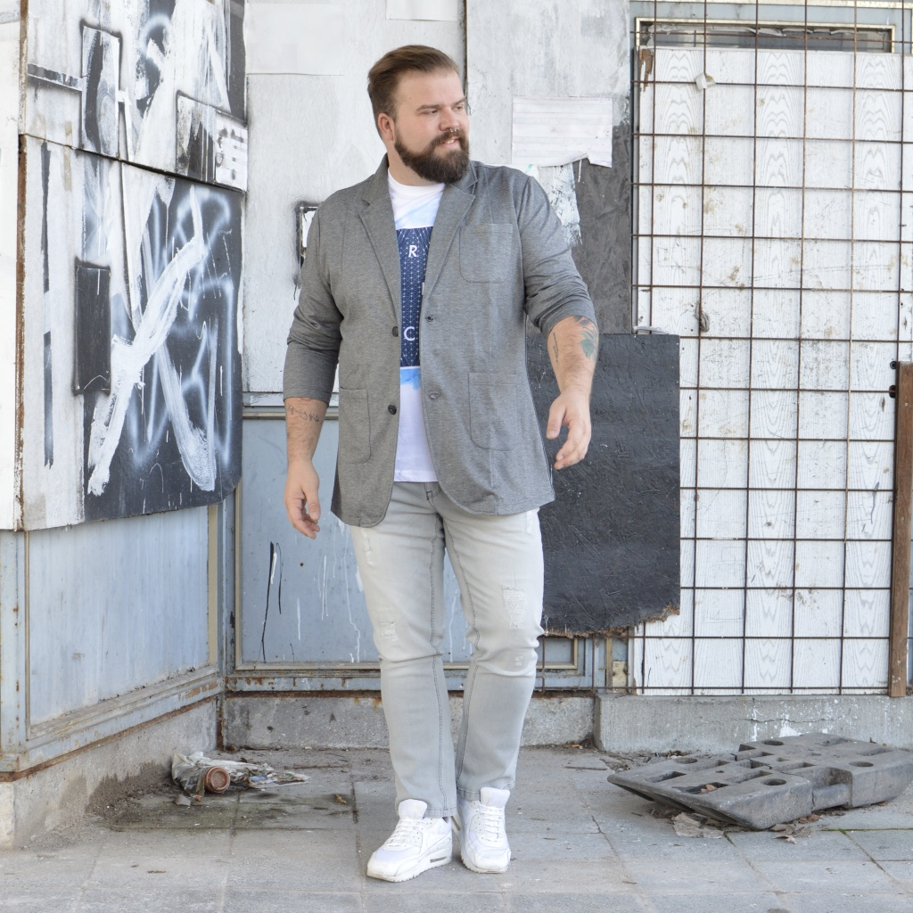 Jersey Sakko Jacket Plus Size Happy Size Casual Friday Business