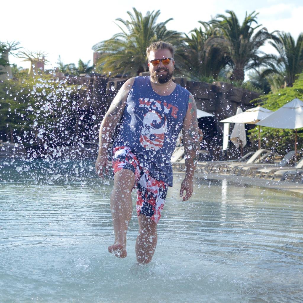bonprix Bademode große Größe Badehose Strand beach swimwear beachwear model Claus