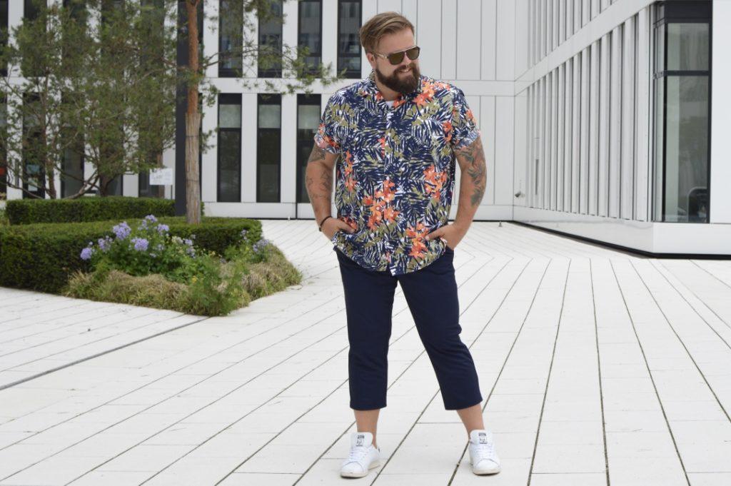 Jersey Anzug Happy Size Hawaii Hemd