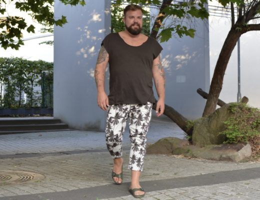 Asos Hose mit Palmenprint Asos Plus Plus Size Fashion Male Model Blogger