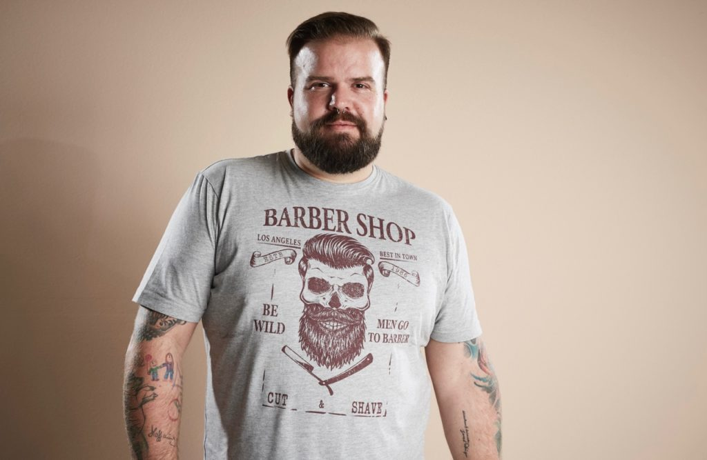 Happy Size Barber Shop Camouflage