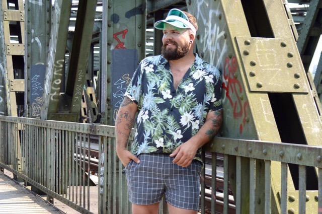 Karo geblümt Asos Plus Mustermix Sommer Outfit summer look
