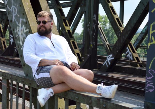 Asos Plus elegant summer outfit Sommer Look Karoshorts Tunike Hemd Shirt