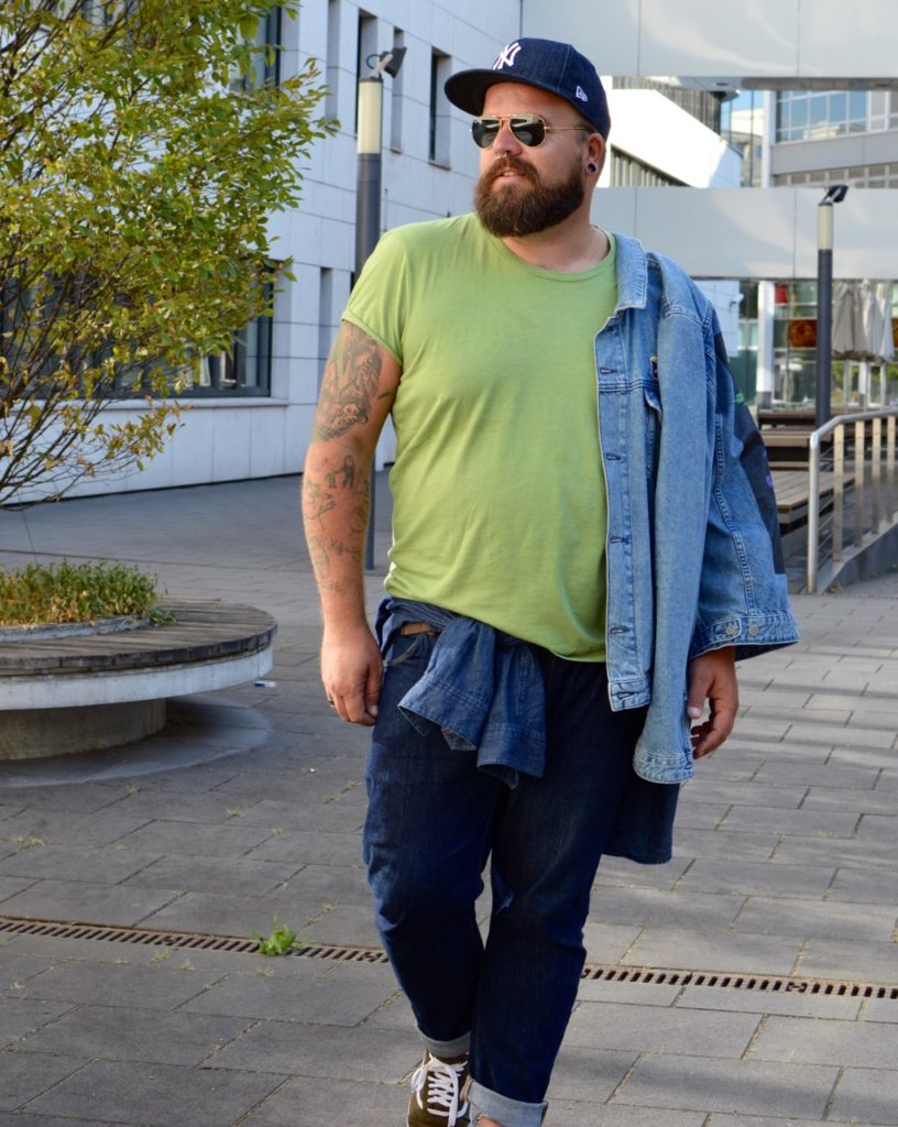 All Denim Layering Herbst autumn fall outfit look Zwiebellook Jeans