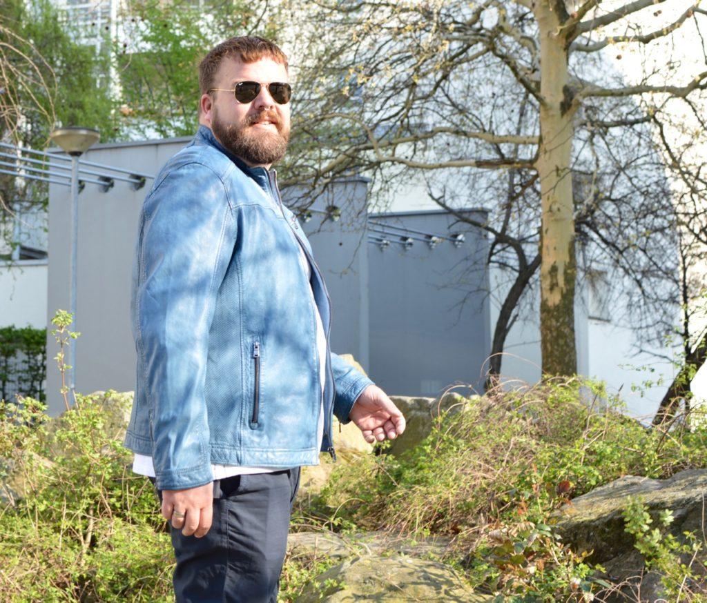 engbers XXL Lederjacke blau Ostern Gewinnspiel Einkaufsgutschein