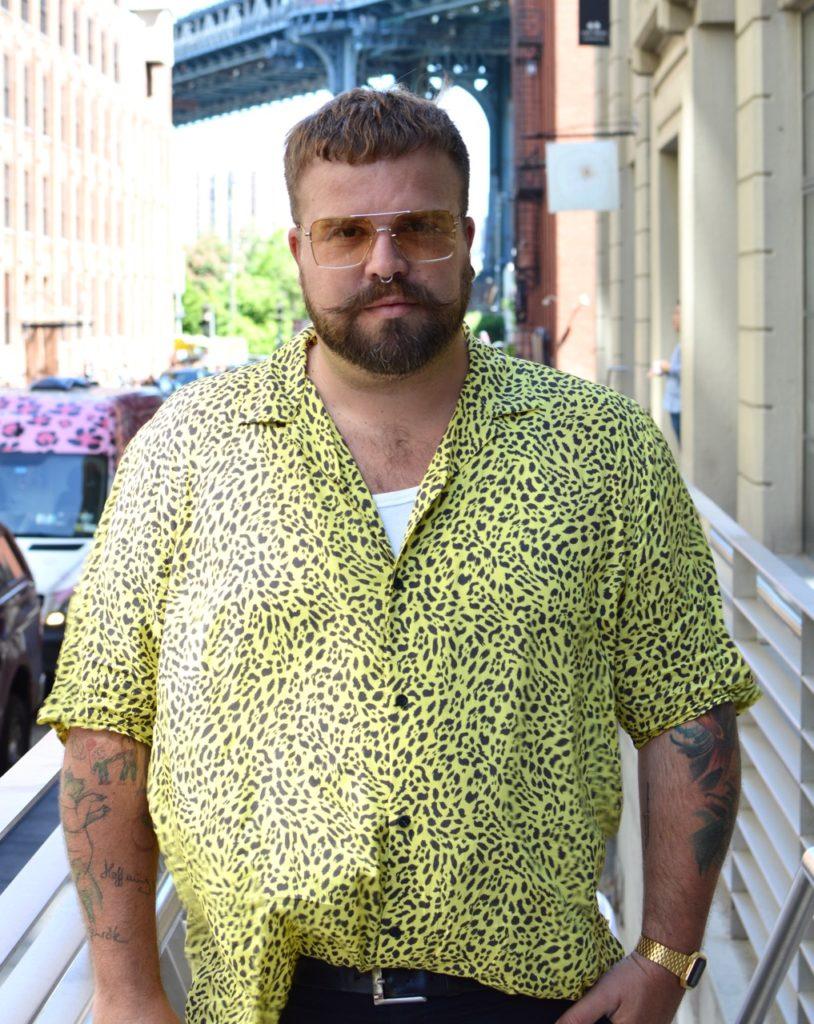 Asos Plus Leo Leopard Print neon shirt
