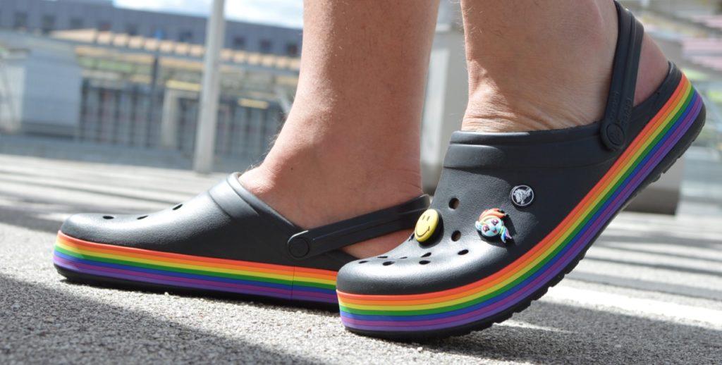 Crocs Crocband Rainbow Clog gay pride edition