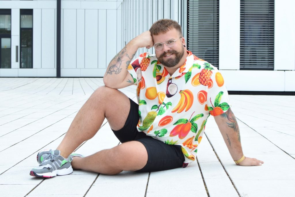 Asos Plus Size Hawaii Hemd shirt fruit print Ananas pineapple Banane Banana