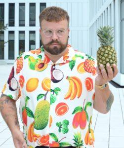 Asos Plus Size Hawaii Hemd shirt fruit print Ananas pineapple Banane Banana
