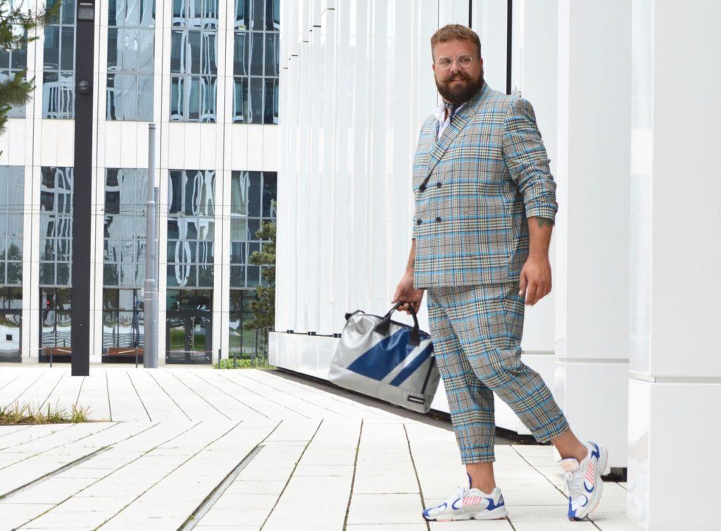 ASOS PLUS suit Anzug Zweireiher Karo kariert checked checks oversized