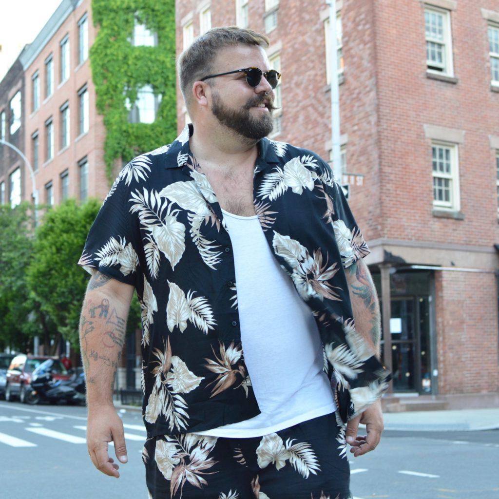 New Look Men Plus Size Co Ord Set Kombiteil Botanic Print