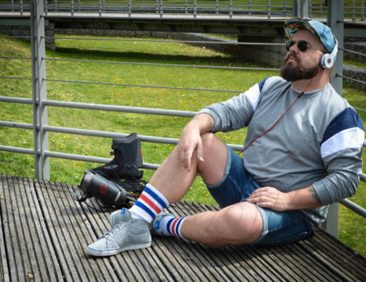 Sommer, Skates & Fun - Male Plus Size Model Claus