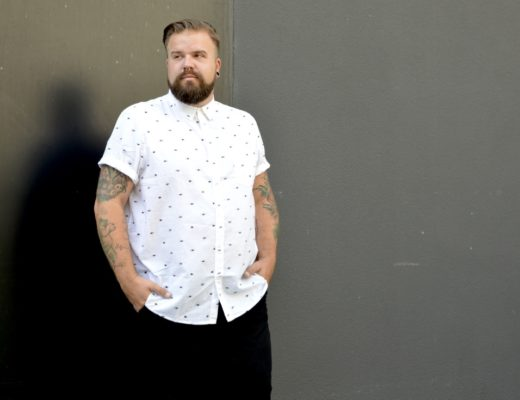 bonprix black and white shirt chino male plus size model blog blogger