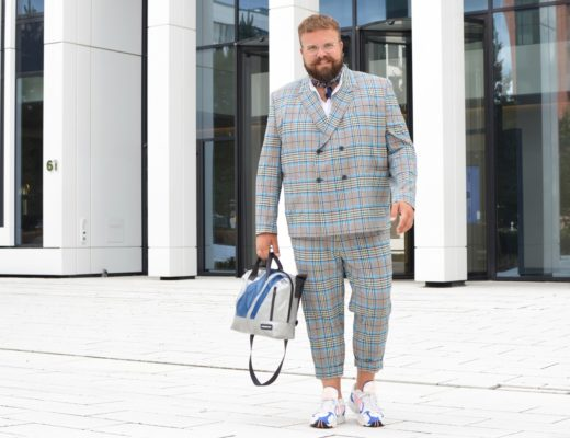 ASOS PLUS suit Anzug Zweireiher Karo kariert checked checks oversized