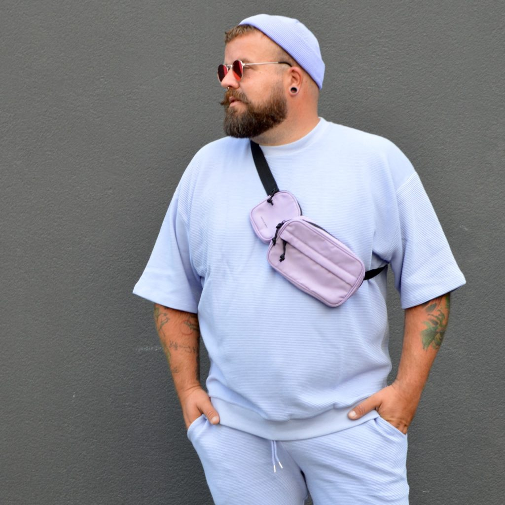 Asos Plus Size Men lila purple pastell streetstyle