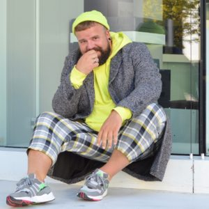 Asos Plus Size Men Neon Mantel Coat Herbst Fall Autumn