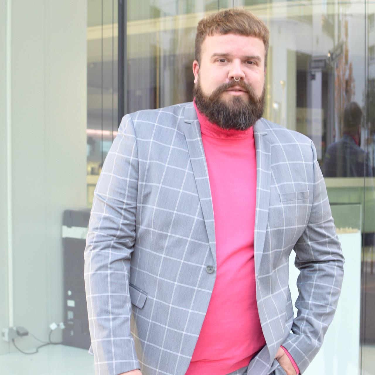 Asos Plus Anzug grau kariert checked suit Plus Size