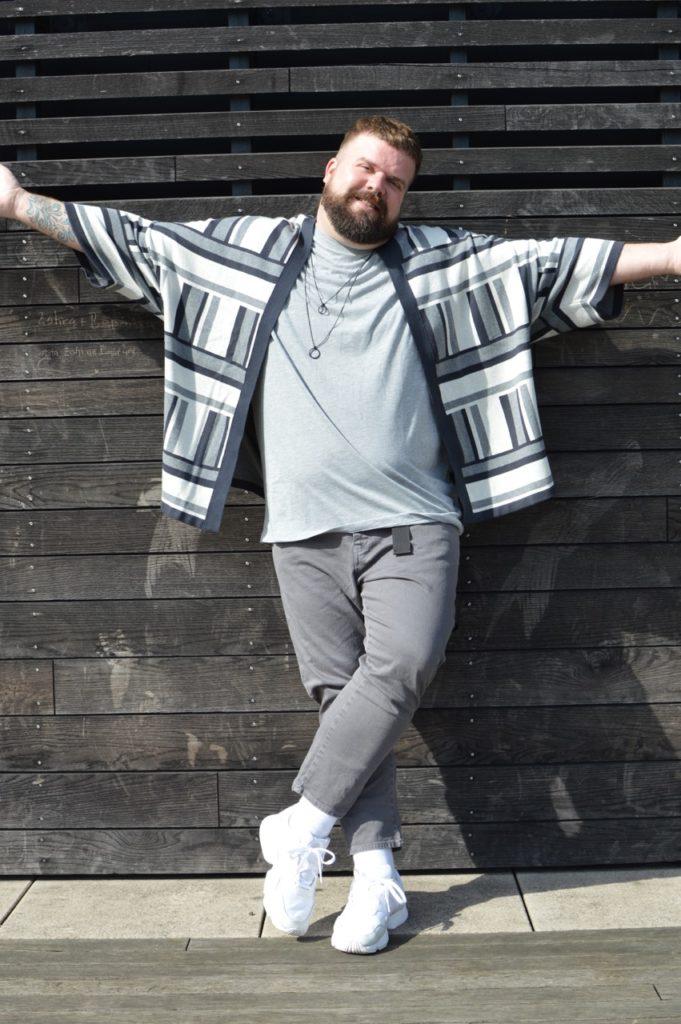 Kimono strick knitted Asos Plus Size große Größe